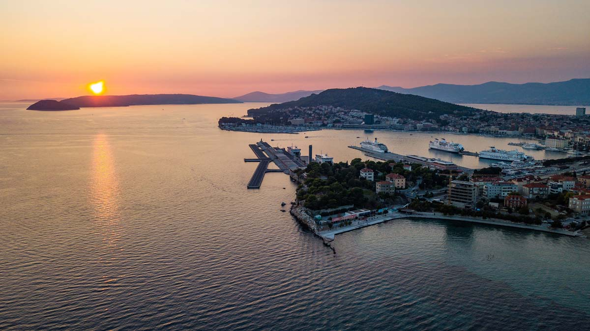 Autumn sunset in Split