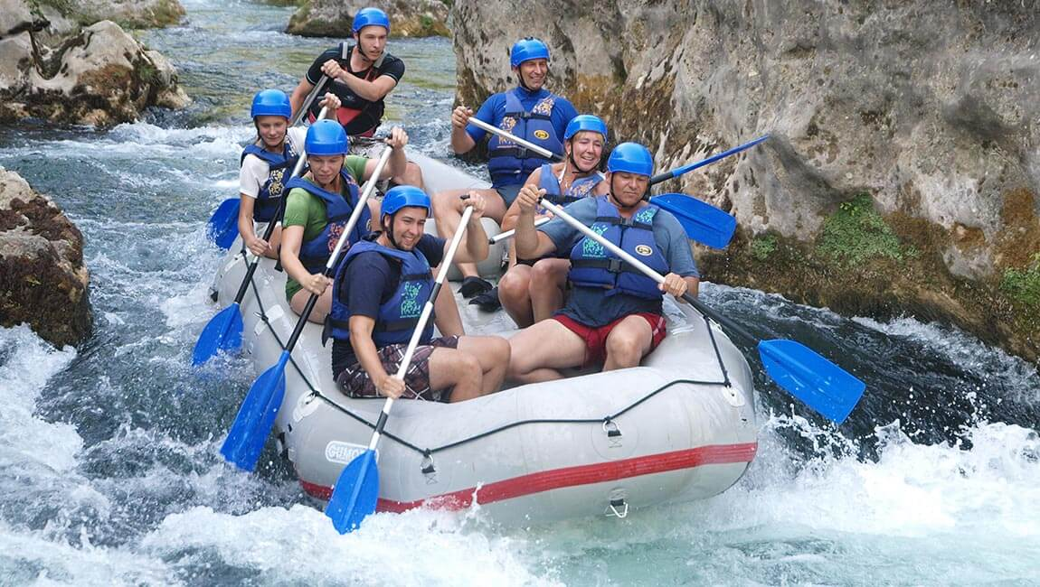 Rafting on Cetina River