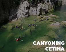 Canyoning on River Cetina